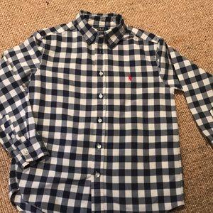 Polo boys cotton gingham shirt